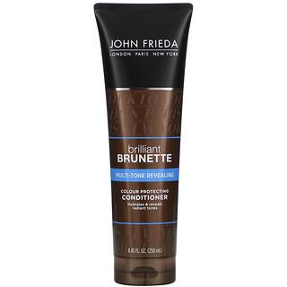 John Frieda, Brilliant Brunette, Multi-Tone Revealing, Color Protecting Conditioner, 8.45 fl oz (250 ml)