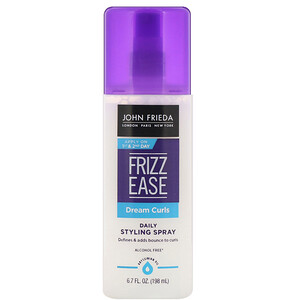 John Frieda, Frizz Ease, Dream Curls, Daily Styling Spray, 6.7 fl oz (198 ml) отзывы покупателей