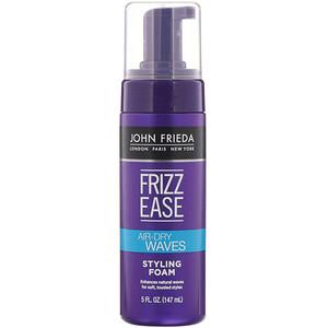 John Frieda, Frizz Ease, Air-Dry Waves, Styling Foam, 5 fl oz (147 ml) отзывы