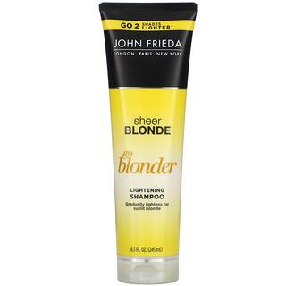John Frieda, Sheer Blonde، Go Blonder، شامبو التفتيح، 8.3 أونصة سائلة (245 مل)