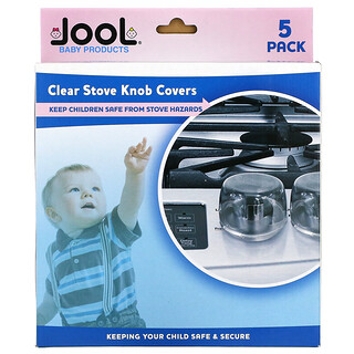 Jool Baby Products, Clear Stove Knob Covers, 5 Pack
