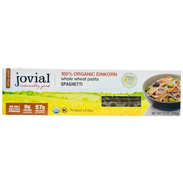 Jovial, Whole Wheat Pasta, Spaghetti, 12 oz (340 g)