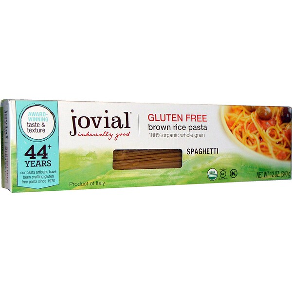 Jovial, Brown Rice Pasta, Spaghetti, 12 oz (340 g)