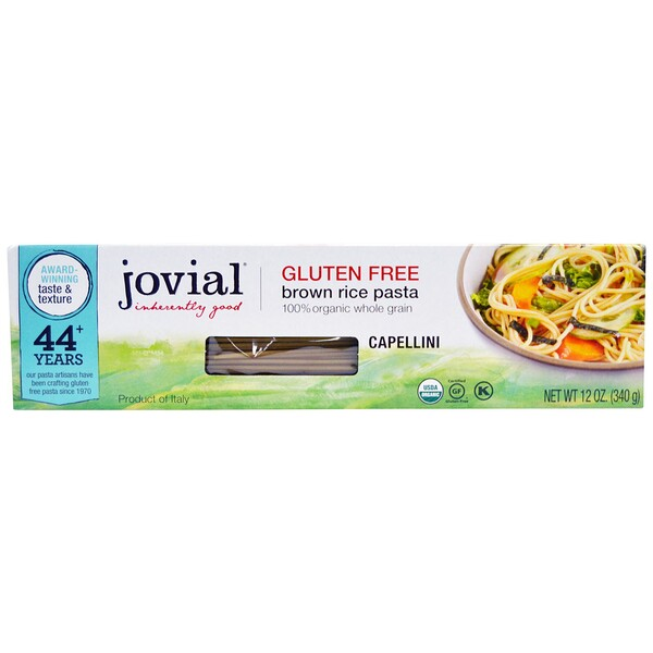 Jovial, Brown Rice Pasta, Capellini, 12 oz (340 g)
