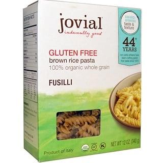 Jovial, ブラウンライスパスタ、フジッリ 、グルテンフリー、12 oz (340 g)