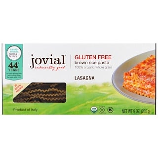 Jovial, Organic Brown Rice Pasta, Lasagna, 9 oz (255 g)