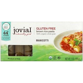 Jovial, オーガニック玄米パスタ、マニコッティ、7 oz (198 g)