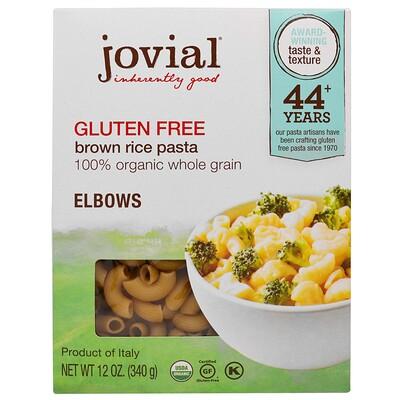 Jovial Органическая паста (макаронные изделия) из коричневого риса, рожки, без глютена, 12 унций (340 г)