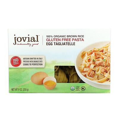 Jovial 100% Organic Brown Rice Gluten Free Pasta, Egg Tagliatelle, 9 oz (255 g)