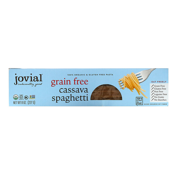 Jovial, Organic Grain Free Cassava, Spaghetti, 8 oz (227.6 g)