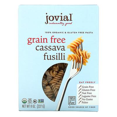 Jovial 100% Organic & Gluten Free Pasta, Grain Free Cassava Fusilli, 8 oz (227 g)
