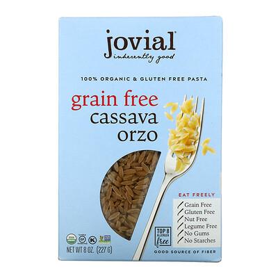 Купить Jovial Organic Grain Free Cassava Pasta, Orzo, 8 oz (227 g)