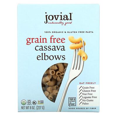 Jovial 100% Organic & Gluten Free Pasta, Grain Free Cassava Elbows, 8 oz (227 g)
