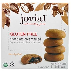 джовиал, Organic Chocolate Cookies, Chocolate Cream Filled, Gluten Free, 6 — 1.2 oz (33 g) Packs отзывы покупателей