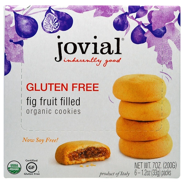 Organic Cookies, Fig Fruit Filled, 6 Packs, 1.2 oz (33 g) Each