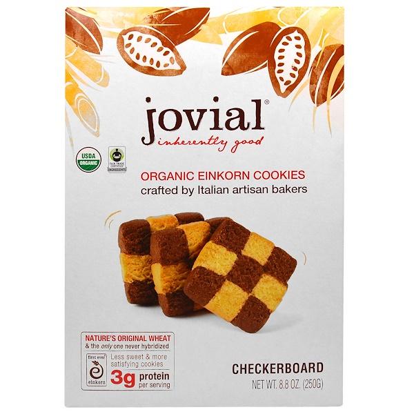 Jovial, 有機Einkorn曲奇餅,棋盤式,8、8盎司(250克)