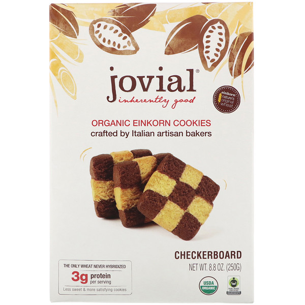 Organic Einkorn Cookies, Checkerboard, 8.8 oz (250 g)