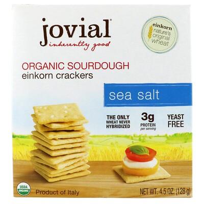 Купить Jovial Органические бездрожжевые крекеры с морской солью из пшеницы однозернянки, 4, 5 унц. (128 г)