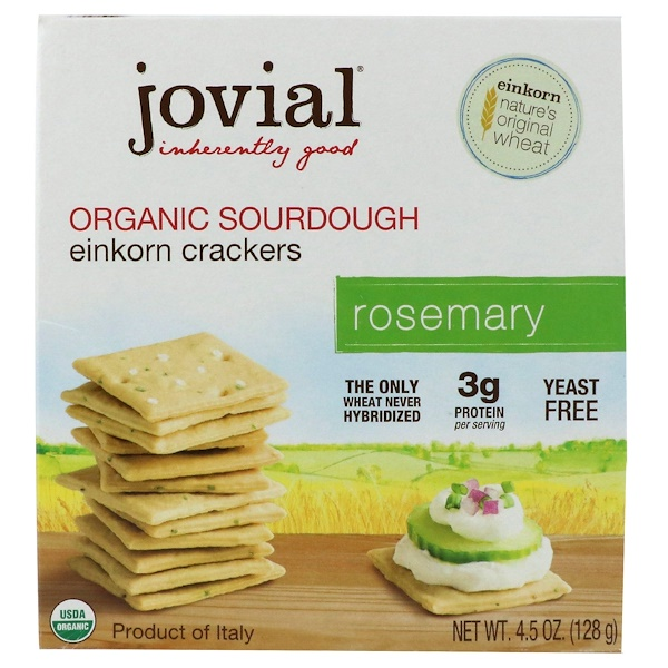 Organic Sourdough Einkorn Crackers, Rosemary, 4.5 oz (128 g)