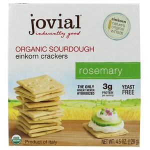 джовиал, Organic Sourdough Einkorn Crackers, Rosemary, 4.5 oz (128 g) отзывы покупателей