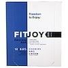 FITJOY, Protein Bar, Cookies and Cream, 12 Bars, 2.11 oz (60 g) Each