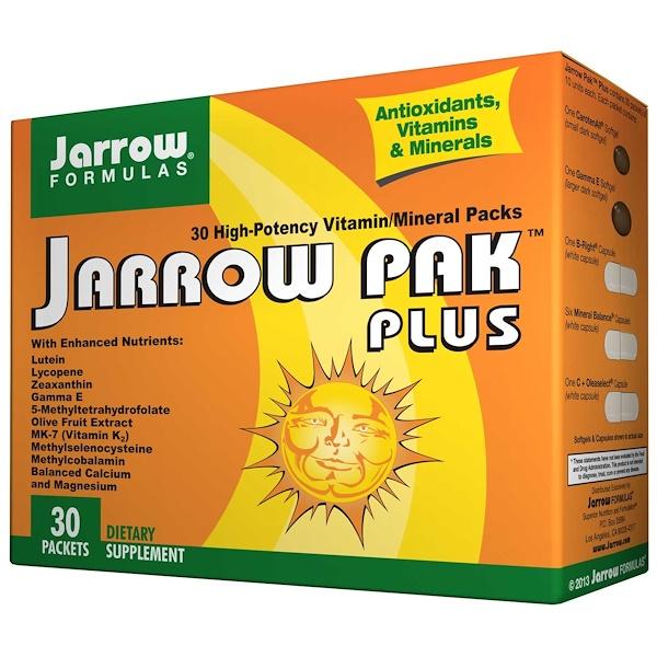 Jarrow Formulas, Jarrow Pak Plus, Antioxidants, Vitamins & Minerals, Iron Free, 30 Packets (Discontinued Item)