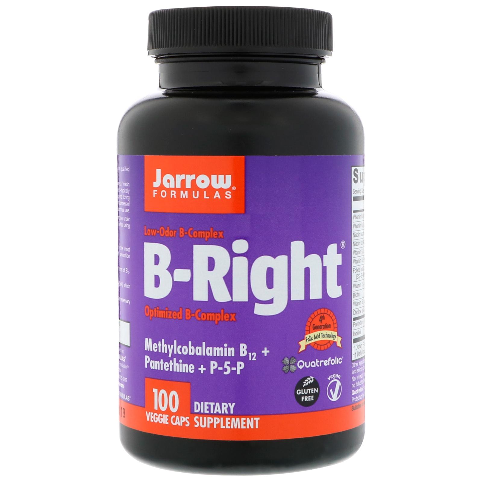 Jarrow Formulas, B-Right, 100 вегетарианских капсул