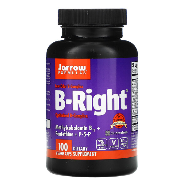 Jarrow Formulas, B-Right, 100 식물성 캡슐