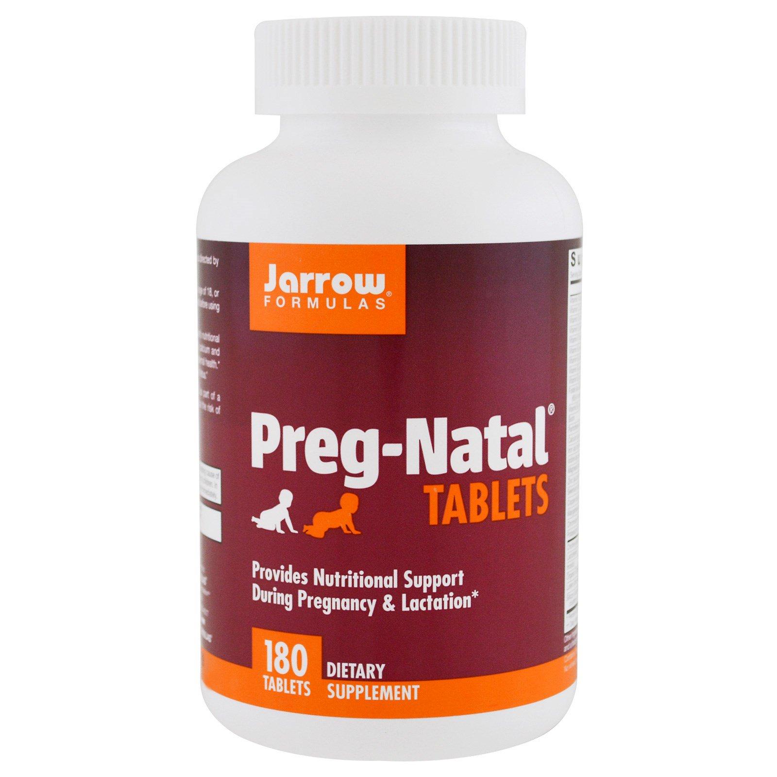Jarrow Formulas, PregNatal + ДГК, 30 пакетов, 180 легкорастворимых таблеток и 30 капсул