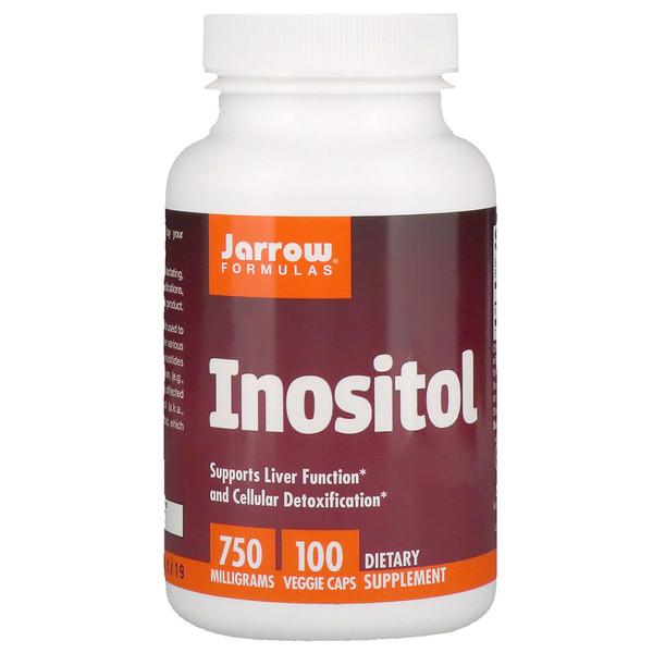 イノシトール、750 mg、植物性カプセル 100粒