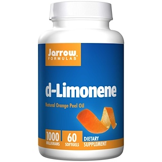 Jarrow Formulas, d-Limonene, 1000 mg, 60 Softgels