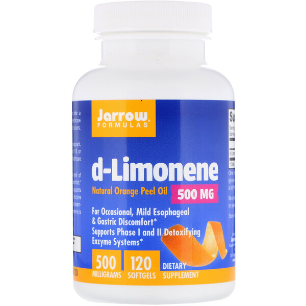 Jarrow Formulas, d-Limonene, 500 mg, 120 Softgels