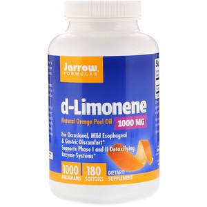 джэрроу формулас, d-Limonene, 1,000 mg, 180 Softgels отзывы покупателей