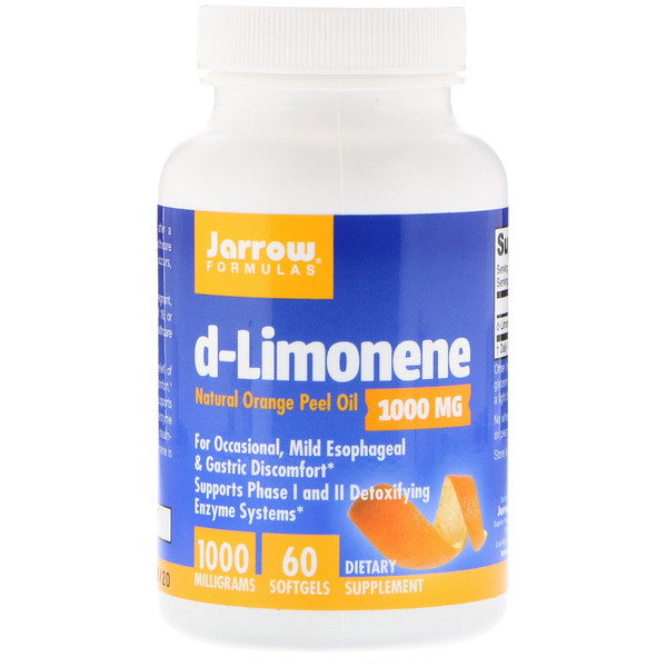 d-Limonene, 1,000 mg, 60 Softgels