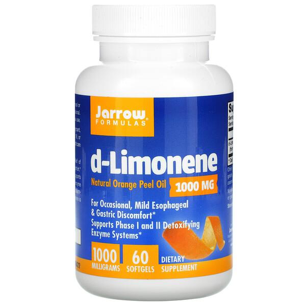 Jarrow Formulas, d-Limonene, 1,000 mg, 60 Softgels
