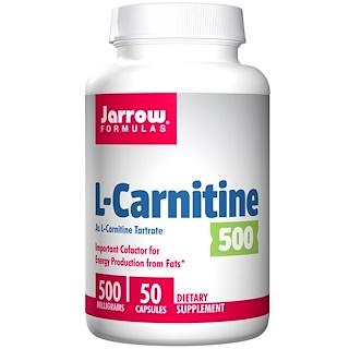 Jarrow Formulas, L-Carnitine 500, 500 mg, 50 Capsules