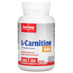 Jarrow Formulas, L-肉堿 500,500 毫克,100 粒素食膠囊