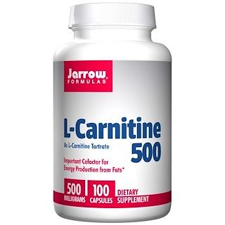 Jarrow Formulas, L-Carnitine 500, 500 mg, 100 Capsules