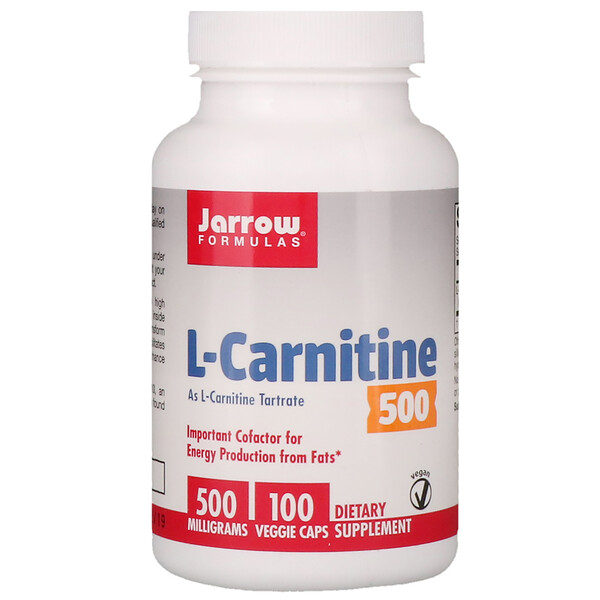 L-Carnitine 500, 500 mg, 100 Veggie Caps