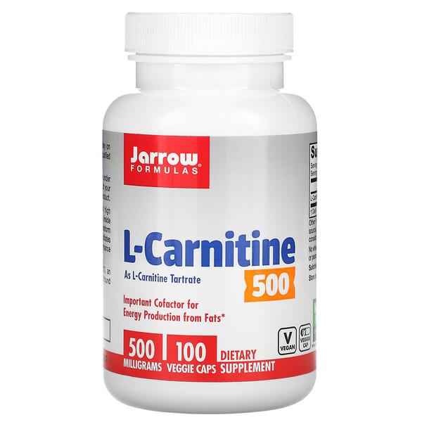L-Carnitina500, 500mg, 100cápsulas vegetales