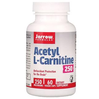 Jarrow Formulas, Acetyl L-Carnitine 250, 250 mg, 60 Veggie Caps