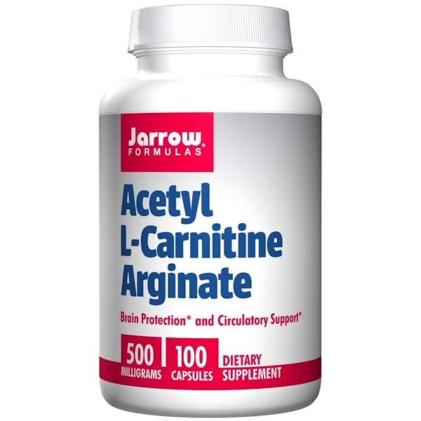 Jarrow Formulas, Acetyl L-Carnitine Arginate , 500 mg, 100 Capsules (Discontinued Item)