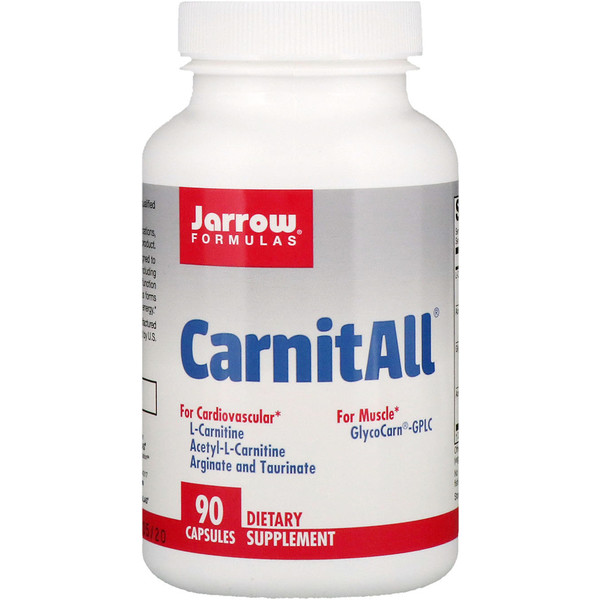 Jarrow Formulas, CarnitAll, 90 Capsules (Discontinued Item)