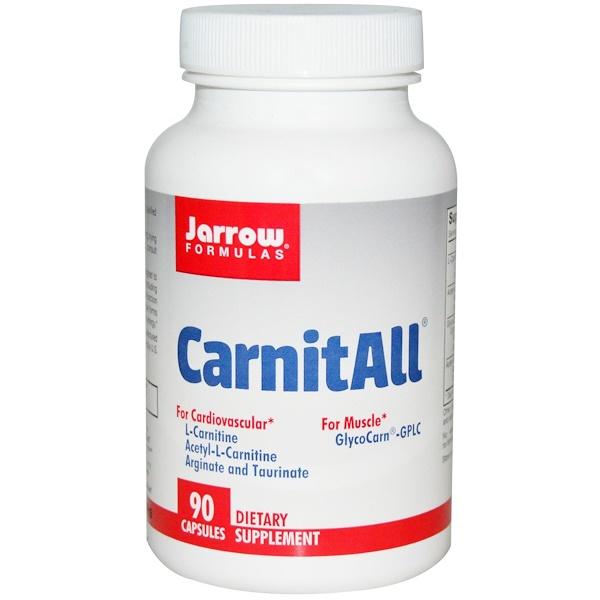 Jarrow Formulas, CarnitAll, 90 Capsules