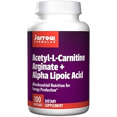Jarrow Formulas, Acetyl L-Carnitine Arginate + Alpha Lipoic Acid, 100 Capsules