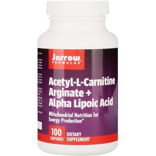 Jarrow Formulas, Acetyl L-Carnitine Arginate, Ácido Alfa Lipóico, 100 Cápsulas