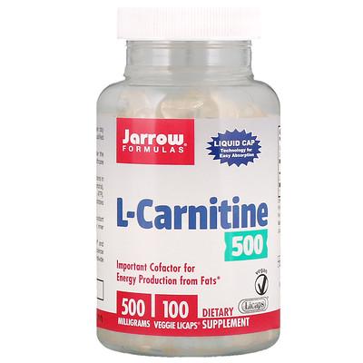 Купить L-карнитин, 500 мг, 100 вегетарианских капсул