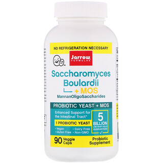 Jarrow Formulas, Saccharomyces Boulardii + MOS、50億、植物性カプセル 90粒