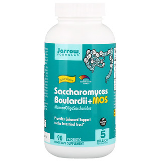 Jarrow Formulas, Saccharomyces Boulardii + MOS, 5 Billion, 90 Veggie Caps