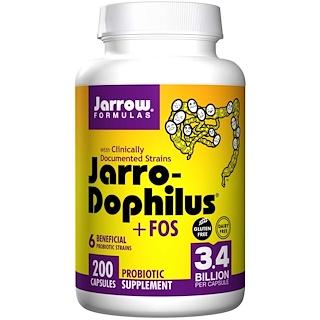 Jarrow Formulas, Jarro-Dophilus + FOS, 3.4 Billion, 200 Capsules